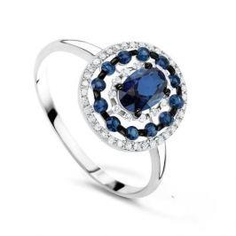 Кольцо с сапфирами и бриллиантами из белого золота VALTERA 73656