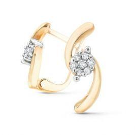 Серьги с бриллиантами из желтого золота VALTERA 51458