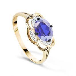 Кольцо с сапфирами и бриллиантами из розового золота VALTERA 69439
