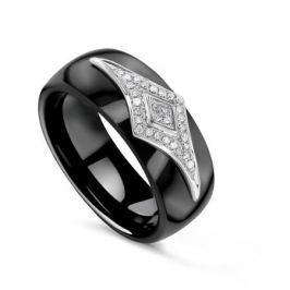 Кольцо с керамикой и бриллиантами из белого золота VALTERA 79186