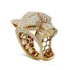 Кольцо с изумрудами и бриллиантами из желтого золота VALTERA 50800