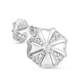 Серьги с бриллиантами из белого золота VALTERA 43410