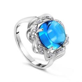 Кольцо с бриллиантами и топазами из белого золота VALTERA 53385