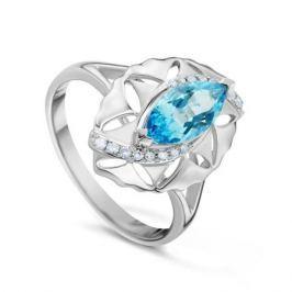 Кольцо с бриллиантами и топазами из белого золота VALTERA 52957