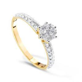 Кольцо с бриллиантами из желтого золота VALTERA 70088