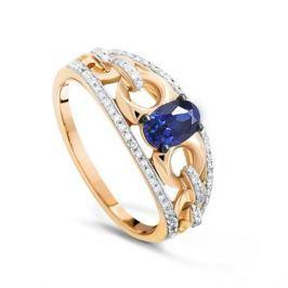 Кольцо с сапфирами и бриллиантами из розового золота VALTERA 90599