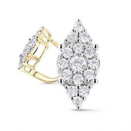Серьги с бриллиантами из розового золота VALTERA 64005