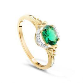 Кольцо с изумрудами и бриллиантами из розового золота VALTERA 91799