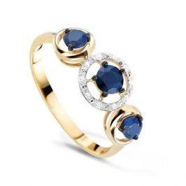 Кольцо с сапфирами и бриллиантами из розового золота VALTERA 54746