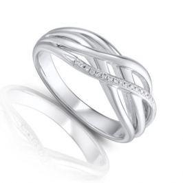 Кольцо с бриллиантами из серебра VALTERA 84577
