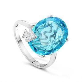 Кольцо с бриллиантами и топазами из белого золота VALTERA 51330