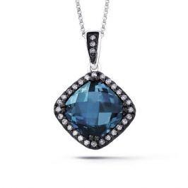 Колье с топазами и бриллиантами из белого золота VALTERA 54723