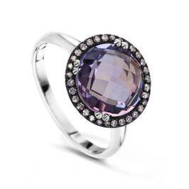 Кольцо с аметистами и бриллиантами из белого золота VALTERA 54239