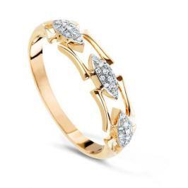 Кольцо с бриллиантами из розового золота VALTERA 68192