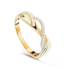 Кольцо с бриллиантами из желтого золота VALTERA 70184