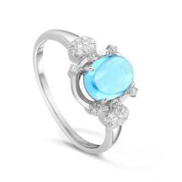 Кольцо с бриллиантами и топазами из белого золота VALTERA 47344