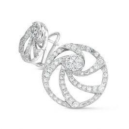 Серьги с бриллиантами из белого золота VALTERA 43389