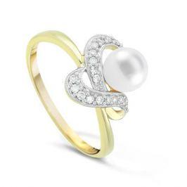 Кольцо с жемчугом и бриллиантами из розового золота VALTERA 21580