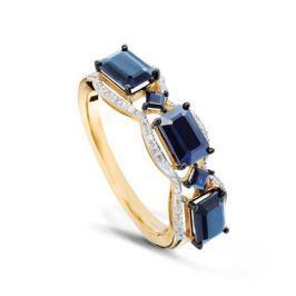 Кольцо с сапфирами и бриллиантами из розового золота VALTERA 50720