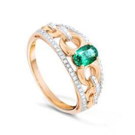 Кольцо с изумрудами и бриллиантами из розового золота VALTERA 89979