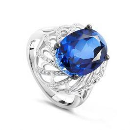 Кольцо с сапфирами и бриллиантами из белого золота VALTERA 90027