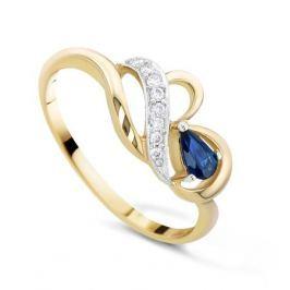 Кольцо с сапфирами и бриллиантами из розового золота VALTERA 21060