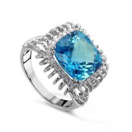 Кольцо с бриллиантами и топазами из белого золота VALTERA 52574