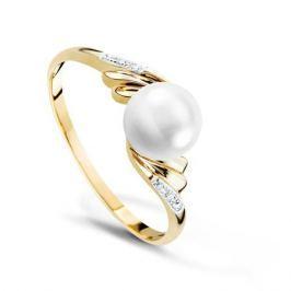 Кольцо с жемчугом и бриллиантами из розового золота VALTERA 67703