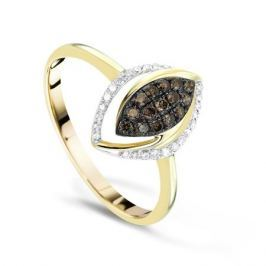 Кольцо с бриллиантами из желтого золота VALTERA 68691