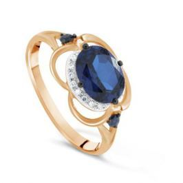 Кольцо с сапфирами и бриллиантами из розового золота VALTERA 77004