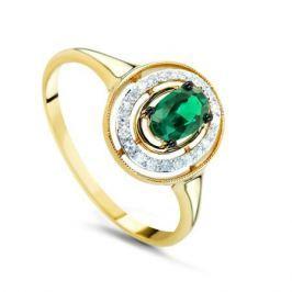 Кольцо с изумрудами и бриллиантами из желтого золота VALTERA 68575