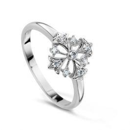 Кольцо с бриллиантами из белого золота VALTERA 53861