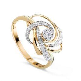 Кольцо с бриллиантами из розового золота VALTERA 71526