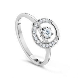 Кольцо с бриллиантами из белого золота VALTERA 55064