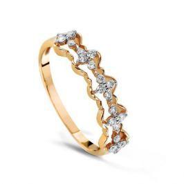Кольцо с бриллиантами из розового золота VALTERA 68350