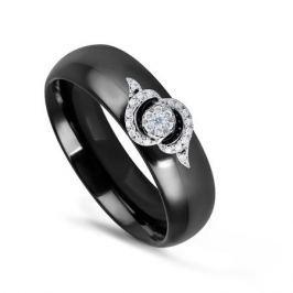Кольцо с керамикой и бриллиантами из белого золота VALTERA 76230