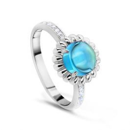 Кольцо с бриллиантами и топазами из белого золота VALTERA 53989