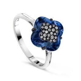 Кольцо с бриллиантами и топазами из белого золота VALTERA 64104