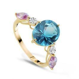 Кольцо с полудрагоценными камнями из желтого золота VALTERA 66826