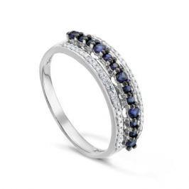 Кольцо с сапфирами и бриллиантами из белого золота VALTERA 92038