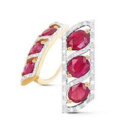 Серьги с рубинами и бриллиантами из розового золота VALTERA 56972