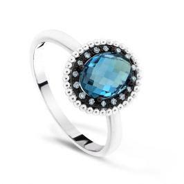 Кольцо с бриллиантами и топазами из белого золота VALTERA 64084