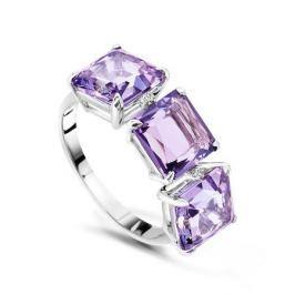 Кольцо с аметистами и бриллиантами из белого золота VALTERA 48778