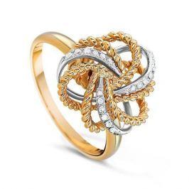 Кольцо с бриллиантами из желтого золота VALTERA 55055
