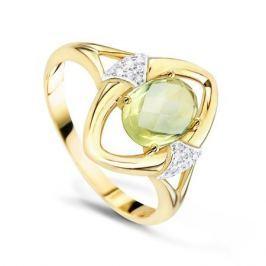 Кольцо с кварцем и бриллиантами из желтого золота VALTERA 58105
