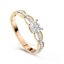 Кольцо с бриллиантами из розового золота VALTERA 72847