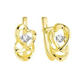 Серьги с бриллиантами из желтого золота VALTERA 90057