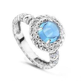 Кольцо с бриллиантами и топазами из белого золота VALTERA 53880