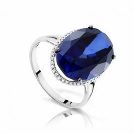 Кольцо с сапфирами и бриллиантами из белого золота VALTERA 92045