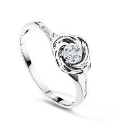 Кольцо с бриллиантами из белого золота VALTERA 54270